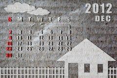 календар 2012 Стоковые Изображения RF