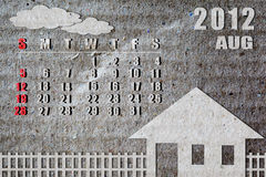 календар 2012 Стоковые Фото