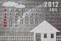 календар 2012 Стоковые Изображения