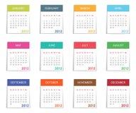 календар 2012 иллюстрация штока