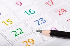 календар стоковое изображение