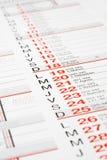 календар Стоковые Фотографии RF