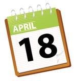 календар в апреле Стоковое Изображение