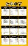 календар 2007 Стоковое Изображение