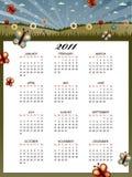 календар 2011 флористический Стоковое Изображение RF