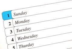 календар Стоковое Изображение RF