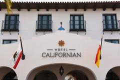 Калифорниец гостиницы отличает роскошными комнатами и панорамными ви стоковая фотография rf
