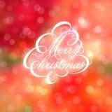 Каллиграфическая рождественская елка на предпосылке bokeh. иллюстрация вектора
