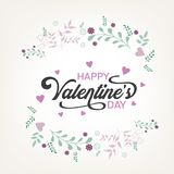 Каллиграфические письма на день ` s валентинки отправляют СМС с сердцем и стрелкой Стоковое фото RF