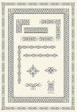 каллиграфические рамки элементов Стоковые Изображения RF