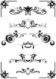 каллиграфические элементы Стоковое Фото