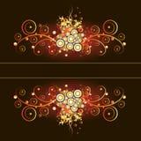 каллиграфический флористический сбор винограда grunge рамки Стоковые Фото