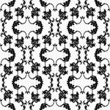Каллиграфический элемент безшовный Стоковое Изображение RF