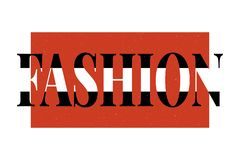 Каллиграфия литерности моды печати вектора фразы моды лозунга графическая иллюстрация вектора