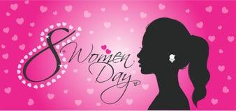 Каллиграфия 8-ое марта дня счастливых женщин стоковые фотографии rf