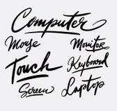 Каллиграфия почерка компьютера Стоковое фото RF