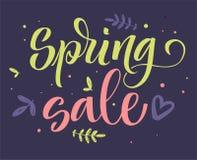 Каллиграфия продажи весны красочная иллюстрация вектора