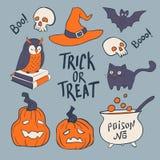 Каллиграфия фокуса или обслуживания нарисованная рукой вектор иллюстрации halloween Плакат праздника или поздравительная открытка Стоковая Фотография RF