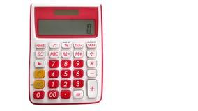 Калькулятор 10 чисел учитывая при пустой космос на праве изолированный на белой предпосылке Стоковые Фотографии RF