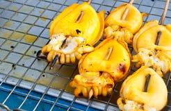 кальмар барбекю Стоковая Фотография