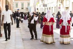 КАЛЬЯРИ, ИТАЛИЯ - 1-ое мая 2015: шествие 359 ^ религиозное Sant'Efisio - Сардинии Стоковые Фотографии RF
