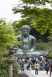 Камакура, Япония - 6-ое мая 2014: Большой Будда (Daibutsu) Стоковое Изображение RF