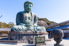Камакура, Япония - 23-ье марта 2014: Большой Будда Камакуры Стоковое Изображение RF