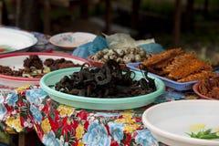 камбоджийская плита snakes вода Стоковые Изображения RF