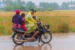 камбоджийская семья Стоковая Фотография RF