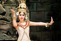 камбоджийская танцулька традиционная Стоковое Изображение RF