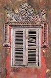 камбоджийское окно стоковые изображения rf