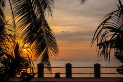 камбоджийский заход солнца Стоковое Изображение