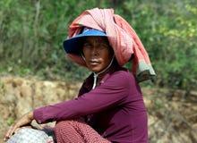 Камбоджийский портрет женщины Стоковая Фотография RF
