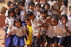 Камбоджийский портрет маленькой девочки Стоковое фото RF