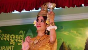Камбоджийский театр в местном ресторане в городе Siem Reap акции видеоматериалы
