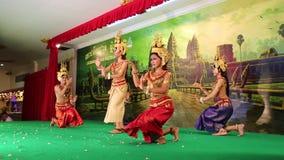 Камбоджийский театр в местном ресторане в городе Siem Reap видеоматериал