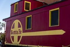 Камбуз рельса Санта-Фе теперь McDonalds на станции Калифорния Barstow стоковое изображение rf
