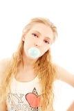 камедь девушки пузыря Стоковая Фотография RF