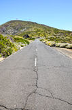 Каменистая дорога на вулканической пустыне Стоковая Фотография RF