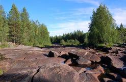 Каменистое русло реки реки Pongoma Стоковая Фотография RF