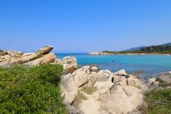 Каменистый берег моря Стоковые Изображения RF