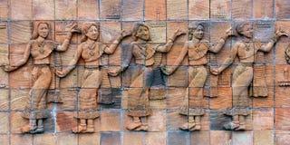 Каменная азиатская статуя женщины Стоковые Изображения RF