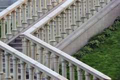 Каменная балюстрада на лестнице Стоковое Изображение RF