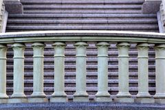 Каменная балюстрада на лестнице Стоковая Фотография