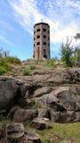 Каменная башня на каменном холме Стоковые Изображения