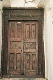 Каменная дверь городка Стоковая Фотография RF