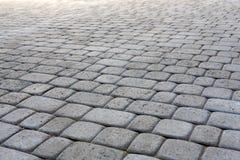 Каменная вымощая текстура Абстрактная предпосылка мостоваой Стоковое фото RF