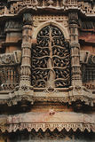 Каменная высекая мечеть rupmati rani окна Стоковые Фото