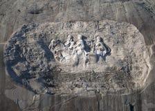 Каменная гора высекая на зоре Стоковое Фото