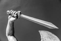 Каменная деталь статуи человеческой руки Стоковые Изображения RF
